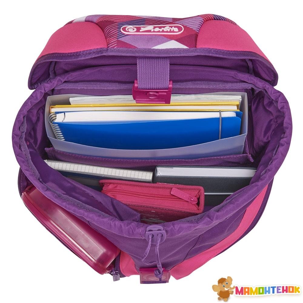 6339a00f25be ... Ранец школьный укомплектованный Herlitz MOTION PLUS Cubes Pink Кубики  Розовые (50020362) 4 ...