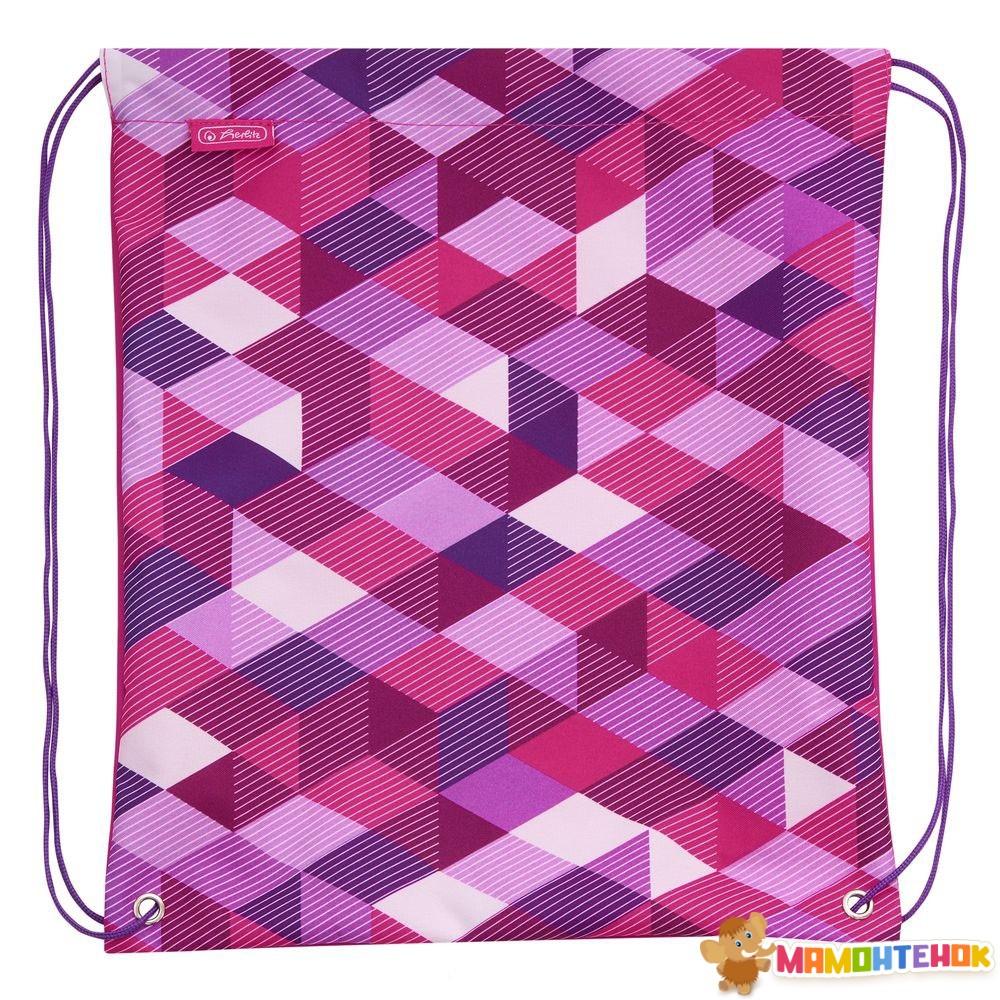 040667bf9353 ... Ранец школьный укомплектованный Herlitz MIDI PLUS Cubes Pink Кубики  розовые (50022083) 9 ...