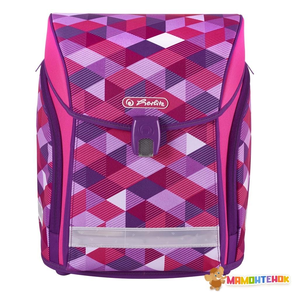 0c2663d1ecce ... Ранец школьный укомплектованный Herlitz MIDI PLUS Cubes Pink Кубики  розовые (50022083) 2 ...