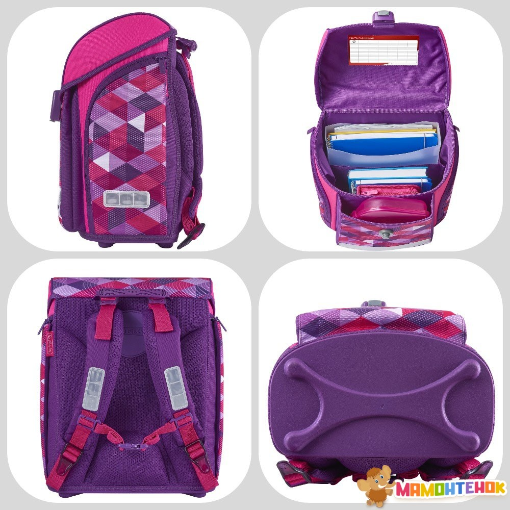 f36b8f0a161d ... Ранец школьный Herlitz MIDI Cubes Pink Кубики розовые (50022090) 3